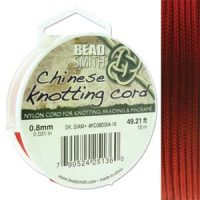 Chinese Cord - .8mm - Dark Siam