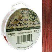 Chinese Cord - .8mm - Burgandy
