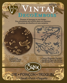 Deco Emboss Die - Cherry Blossom by Sizzix