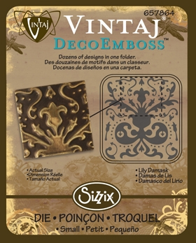Deco Emboss Die - Lily Damask by Sizzix