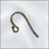 Ear Wire - Ball - Antique Brass
