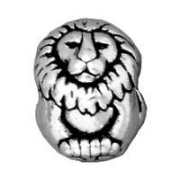 Euro Bead - Lion - Ant. Silver