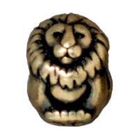 Euro Bead - Lion - Brass Ox