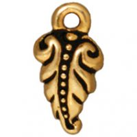 Fern Frond Charms - Ant. Gold