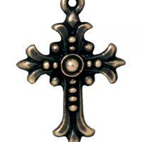 Fleur Cross - Brass Oxide