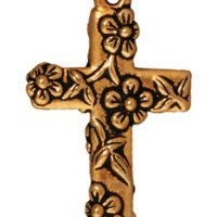 Floral Cross - Antique Gold