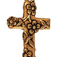 Floral Cross - Antique Gold