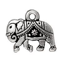 Gita Elephant Charm - Ant. Silver