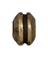 Grooved Bead - Brass Ox