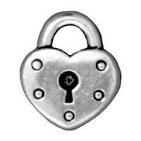 Heart Lock - Ant. Silver