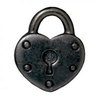 Heart Lock - Black
