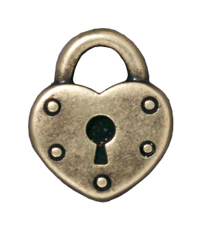 Heart Lock - Brass Oxide