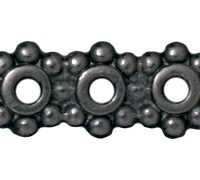 Heishi 3 Hole Bars - Black