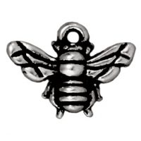 Honeybee Charm - Ant. Silver