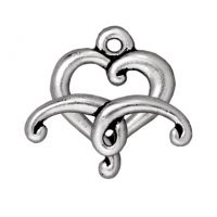 Jubilee Heart Toggle - Antique Silver