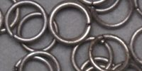 Jump Ring - Antique Mat Silver - 6mm