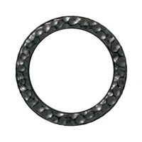 Large Hammertone Ring - Black