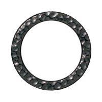 Large Hammertone Ring - Black