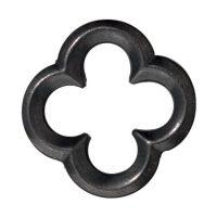 Large Quatrefoil Link - Black