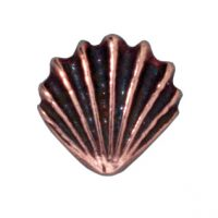 Large Shell Bead - Antique Copper