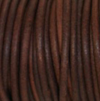 Leather  -1.5mm - Red/Brown Natural Dye