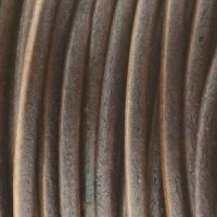 Leather - 1mm - Antique Brown - Natural Dye