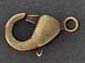 Lobster Claw - Medium - Antique Brass