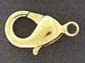 Lobster Claw - Medium - Gold Plated