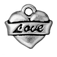 Love Heart - Antique Silver