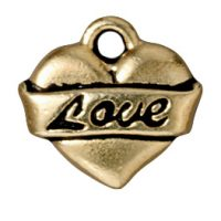 Love Heart - Antique Gold