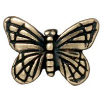 Monarch Butterfly Bead - Brass Oxide