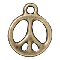 Peace Sign - Brass Oxide
