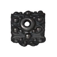 9mm Raja Pendant Bead Cap - Black