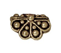 9mm Raja Pendant Bead Cap - Brass Ox