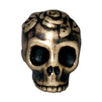 Rose Skull - Brass Oxide