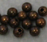 Round - 3mm Bead - Ant. Copper