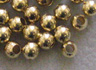 Round - 3mm Bead - Gold Plated
