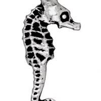 Seahorse - Antique Silver