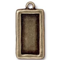Simple Rectangle Frame - Brass Ox