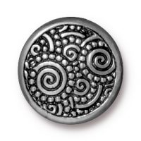 Snap Cap - Spirals - Line 20 - Ant. Pewter