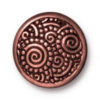 Snap Cap - Spirals - Line 20 - Ant. Copper