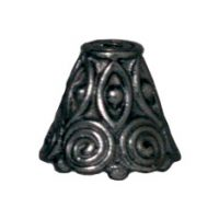 Spiral Bead Cone - Black