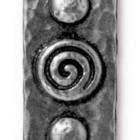 Spiral & Rivets - Antique Pewter