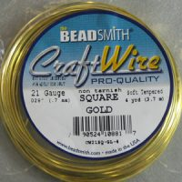Square Craft - Wire 21 Gage - Gold