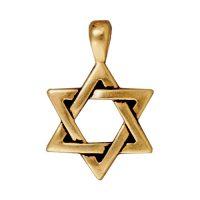 Star of David Pendant - Antique Gold
