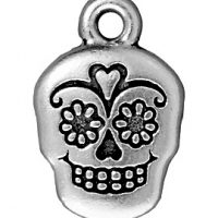 Suger Skull - Antique Silver