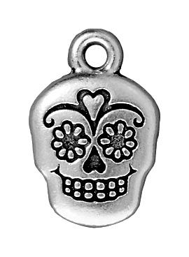 Suger Skull - Antique Silver
