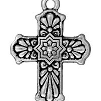 Talavera Cross - Antique Silver