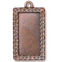 Textured Rectangle Frame - Ant. Copper
