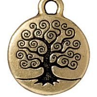 Tree of Life Charm - Brass Oxide